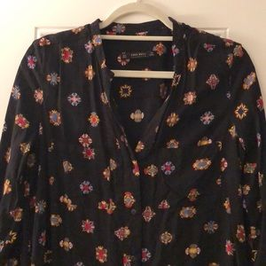 Zara Collection Jewel Button Up Top
